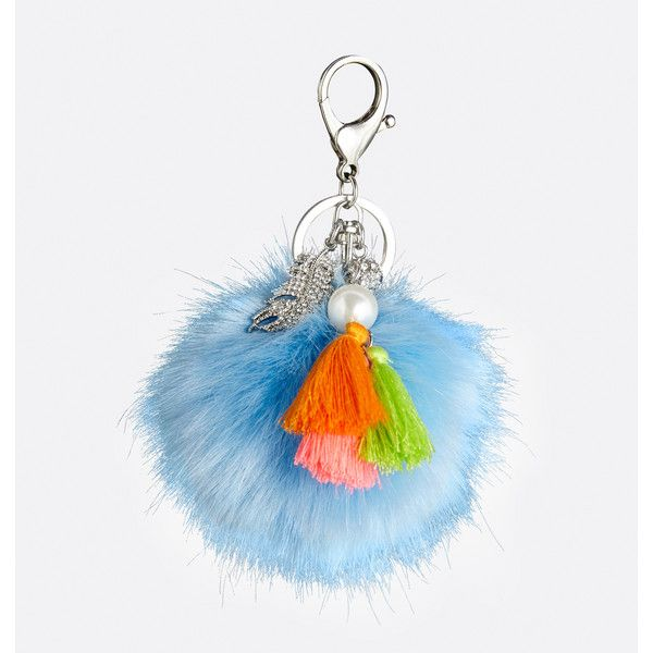 Avenue Puff Leaf Bag Charm (267.215 VND) ❤ liked on Polyvore featuring jewelry, pendants, blue sea, plus size, tassel jewelry, fake jewelry, avenue jewelry, ball jewelry and artificial jewellery