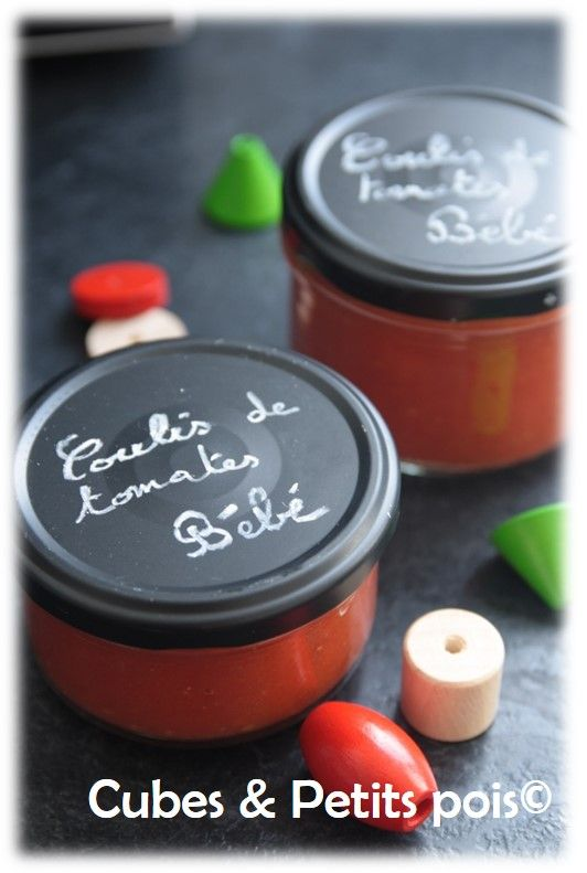 Coulis de tomates pour bébé Recette (Dès 8 mois) - http://www.cubesetpetitspois.fr/recette-bebe-sauce-coulis-tomate/