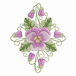 Pansy Beauty 6 - 4x4 | What's New | Machine Embroidery Designs | SWAKembroidery.com Ace Points Embroidery
