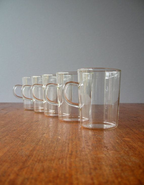 vintage modern german schott glass cups jenaer glas vintage glasses and vintage modern. Black Bedroom Furniture Sets. Home Design Ideas