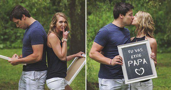« Tu vas être papa ! » Cet homme s'effondre en larmes lorsque sa femme met en place un faux shooting photo pour lui annoncer qu'elle est enceinte