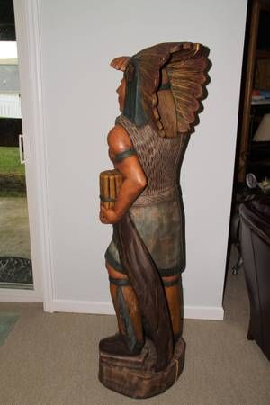 Cigar Store Indian Brave for Sale | Cigar Store Wooden Indian (Christiansburg) | Collectibles