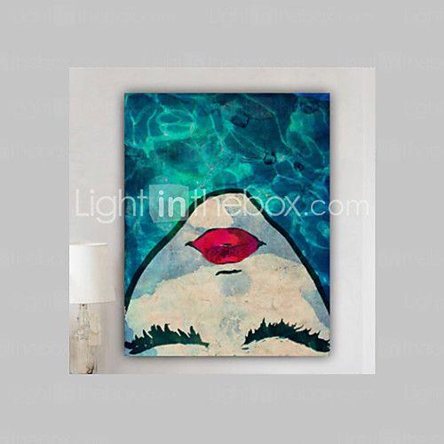 Dipinta a mano RitrattiModern Un Pannello Tela Hang-Dipinto ad olio For Decorazioni per la casa del 2016 a €95.05