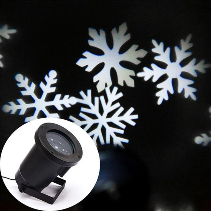 1X Outdoor Snowflake LED Projector Wall Lamp Landscape Light Holiday Spotlight Christmas Wedding Party Winter Snow Led Lights #WinterWedding