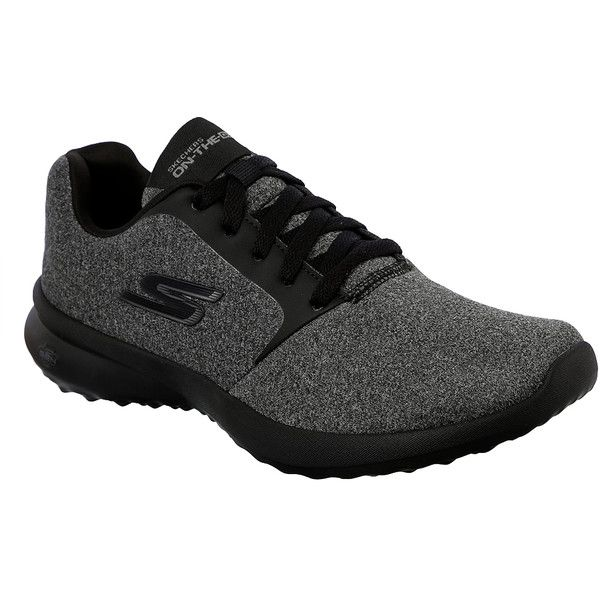 Skechers Women's On The Go City 3 Black Gray - 7 M Women's Shoes (3.645 RUB) ❤ liked on Polyvore featuring shoes, black, laced up shoes, black shoes, skechers, black laced shoes and skechers footwear