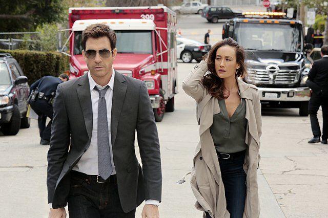 Dylan McDermott and Maggie Q in Stalker (2014)