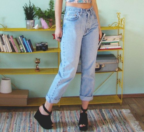 SALE High Waist Vintage Levi Jeans by EverRad on Etsy
