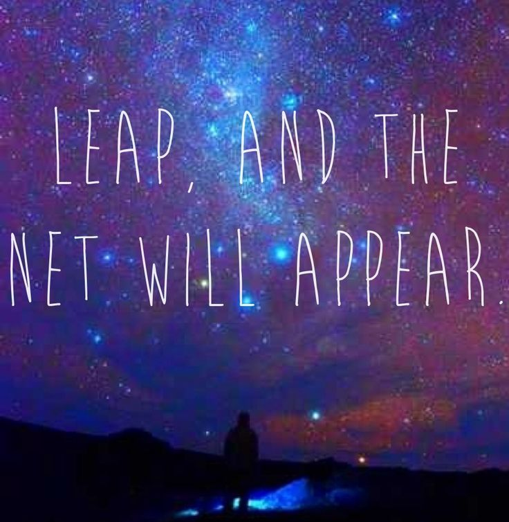 Best Work Quotes : Love this quote. Leap and the net will appear. #quotes #love #faith