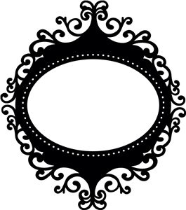 Silhouette Online Store - View Design #4732: artisan ornate oval frame