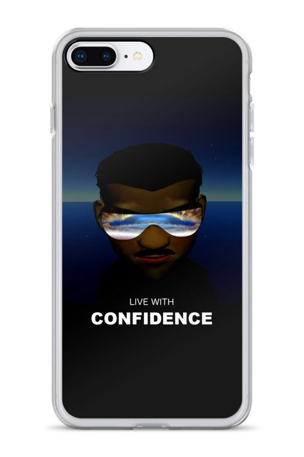 Confidence - iPhone 7 Plus/8 Plus Case: • Hybrid Thermoplastic Polyurethane (TPU) and Polycarbonate (PC) material • Solid polycarbonate back • Flexible see-through polyurethane sides • Precisely aligned cuts and holes • 0.5 mm raised bezel • Printed in the USA