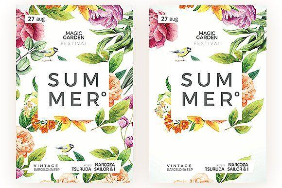Summer Flyer by MrMoustache on @creativemarket