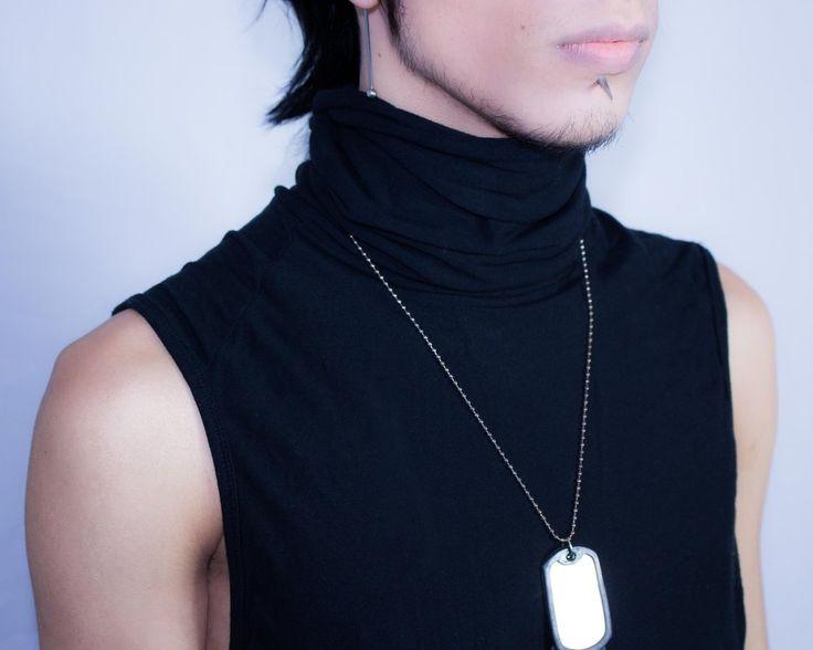Distopia Collection - Camiseta regata cacharrel (usável frente ou costas) - Moda masculina e sustentável, para homens com estilo alternativo