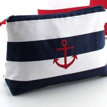 Cosmetic Bag with Nautical Icon