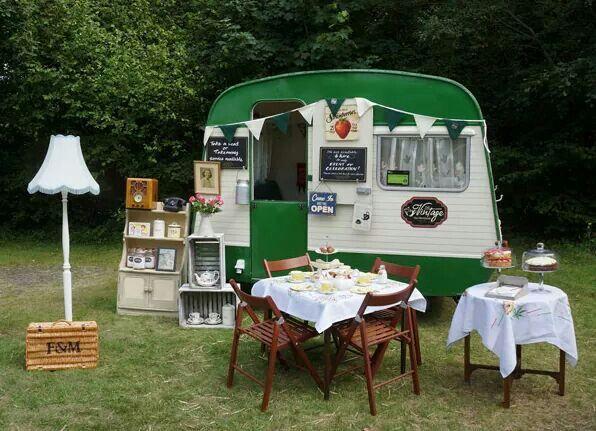 Vintage tea caravan More