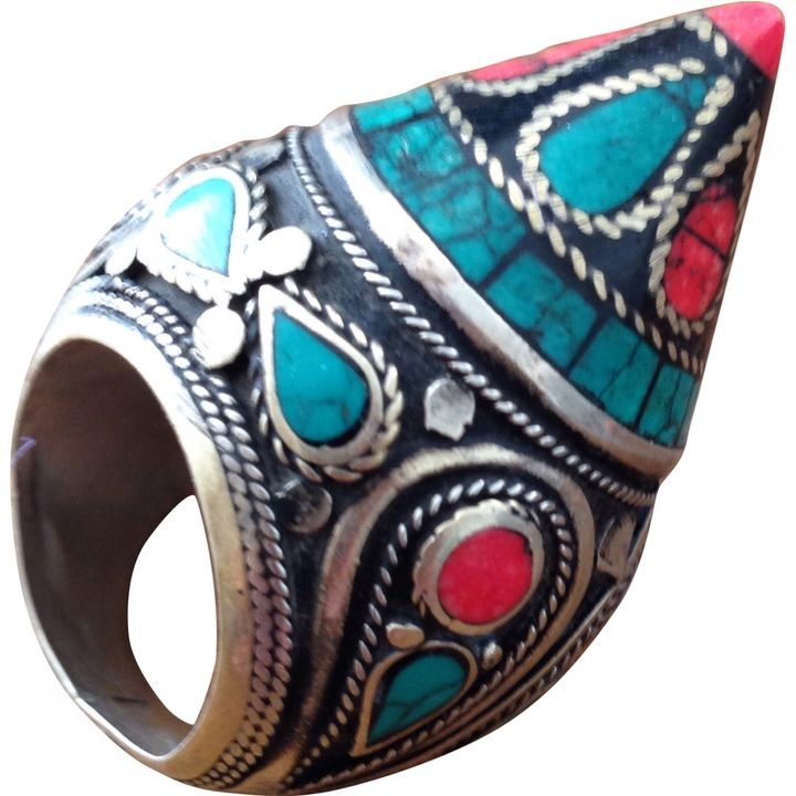 Autre Marque Ethnic Bedouin Chunky Ring On Shopstyle Co Uk