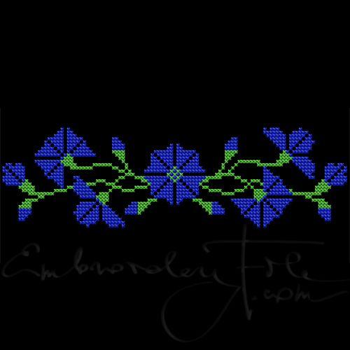 Cornflowers in cross stitch II B