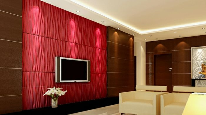 Wohnzimmer einrichten 3d  wohnzimmer gestalten wohnzimmer einrichten wandpaneele tv wand ...
