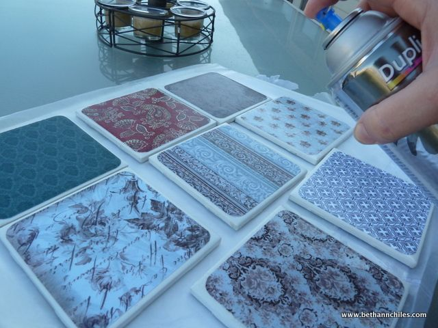 Step by step tutorial on how to make tile coasters!!! Easy and great gifts!