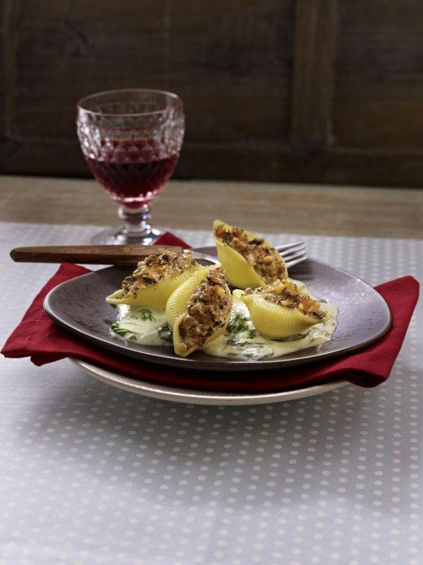 Unser beliebtes Rezept für Gefüllte Pilz-Conchiglioni und mehr als 55.000 weitere kostenlose Rezepte auf LECKER.de.