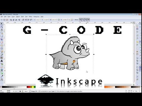 How to make G-CODE file of any image for CNC machine /INKSCAPE - YouTube