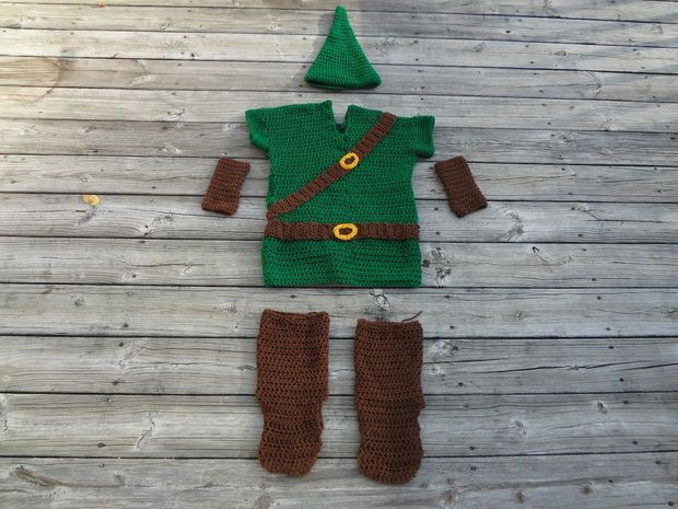 Baby Zelda Knitting Pattern : Crochet Big Kid/ Adult Legend of Zelda Link Costume ...
