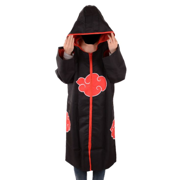 Japanese Anime Akatsuki Cloak Naruto cosplay costume Akatsuki Organization Members Cloak Ninja Uniform Sasuke Robe hooded #Affiliate