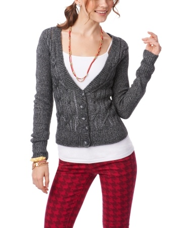 Chunky Cable Cardigan - Aéropostale®