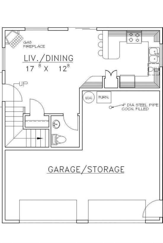 House plan 039 00393 951 square feet 2 bedrooms 1 5 for 2 bedroom 2 bath garage apartment plans