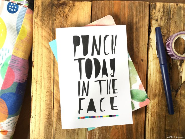 PUNCH TODAY greeting card cc101 by MsSpanner on Etsy https://www.etsy.com/listing/200793758/punch-today-greeting-card-cc101