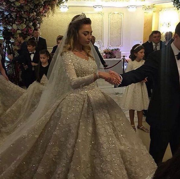 Pin for Later: This Russian Bride's Elaborate Wedding Gown Will Absolutely Blow Your Mind