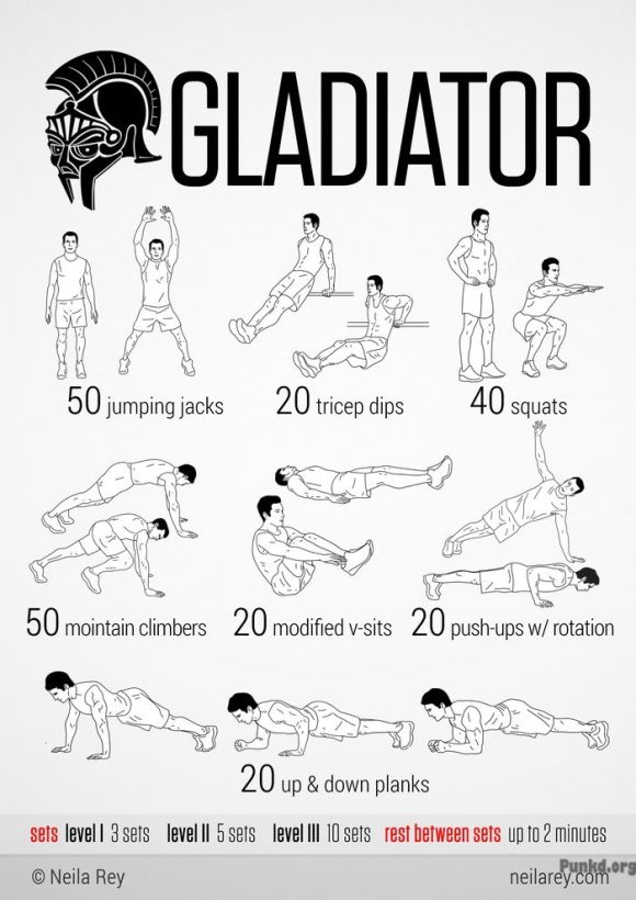Gladiator Workout Gladiator Workout!!