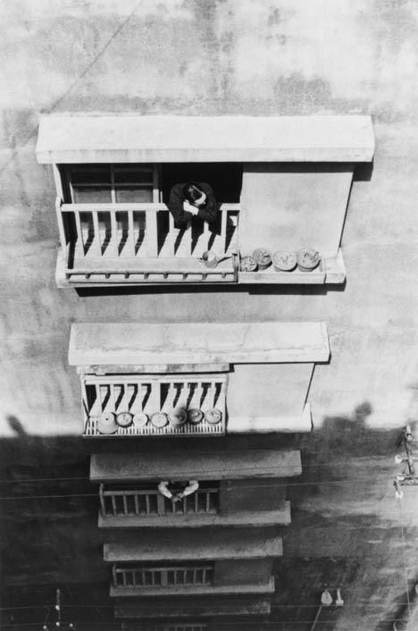 "Ikko NARAHARA :: Island without Green―Gunkanjima: Apartment Windows from ""Human Land″, 1954-57"