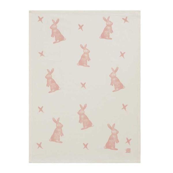 Pink Hot Cross Bunny Tea Towel www.koop.co.nz