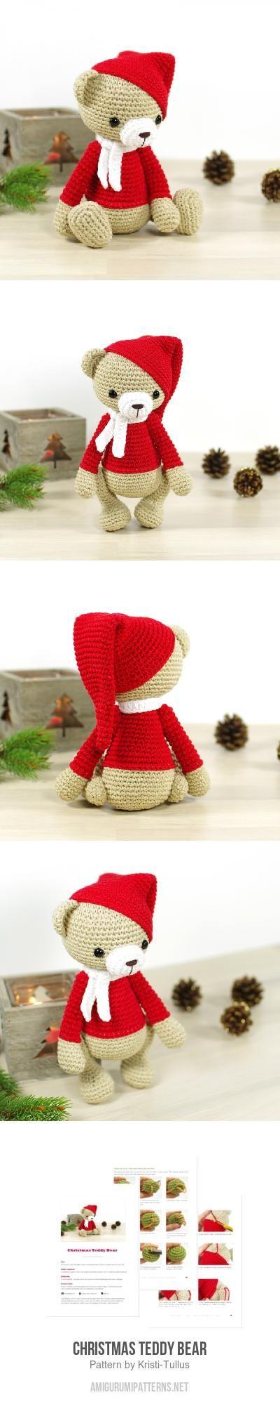Christmas Teddy Bear Amigurumi Pattern for purchase