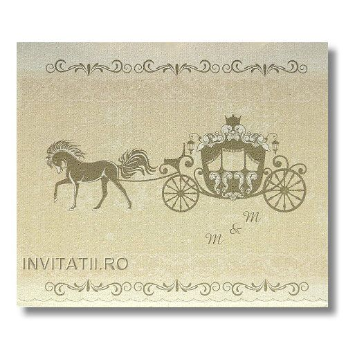 Invitatii nunta model VG3 « invitatii-nunta-vintage « invitatii nunta « Invitatii.ro