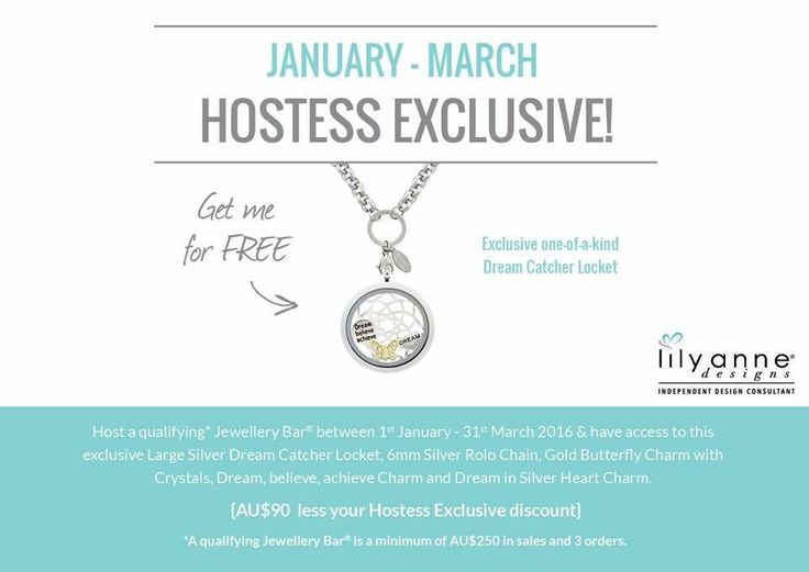 January-March 2016 Hostess Exclusive... Stunning Dream Catcher Locket