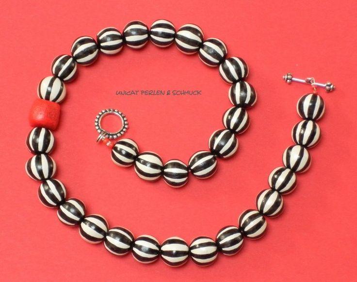 """Ketten - Kette """"Red Coral"""" - ein Designerstück von UNICAT--Perlen-und-Schmuck- bei DaWanda"""