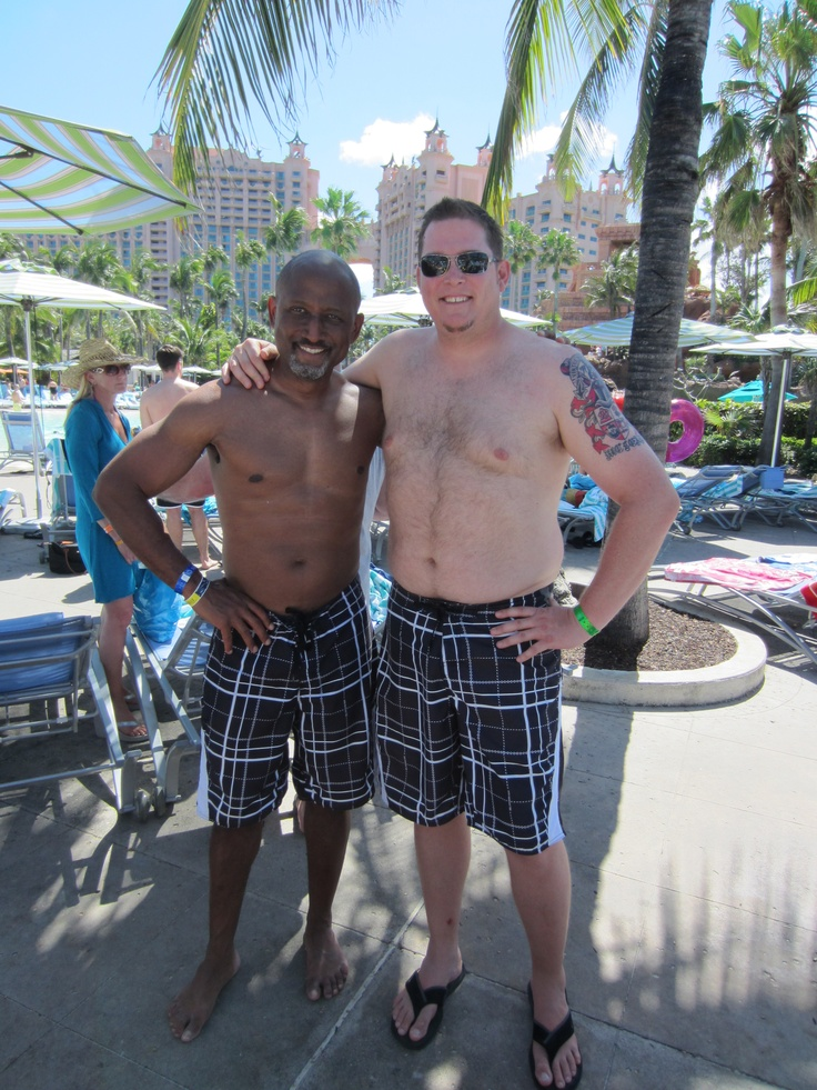 Hey Chris, I thought I would be the only one with these swim trunks. :): Hey Chris, Swim Trunks, Club 2012, Thought, Beachbody Success, Success Club, 2012 Bahamas
