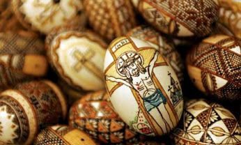 Food Art: Rumanian Painted Easter Eggs, The Resurrection #foodart   #resurrection #easter #easteregg #painting