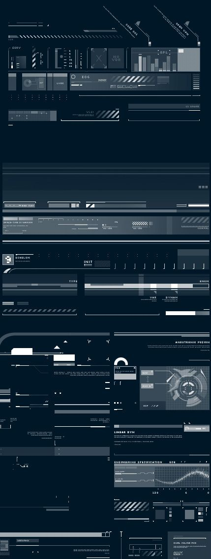 Z-DESIGN Tech Brushes Set v5  design ui user interface blue white future minimal