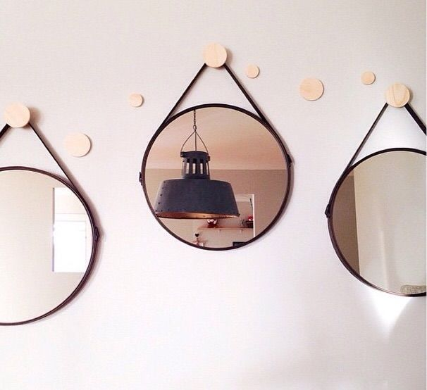 Group mirrors together. Love the hooks. Kmart Styling