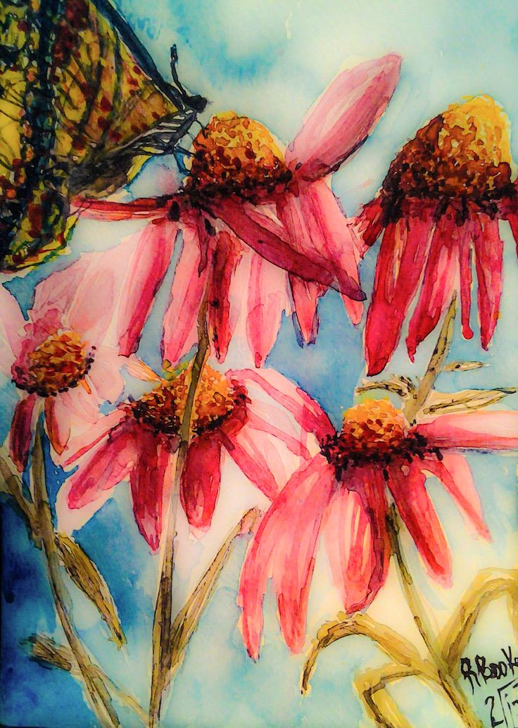 """""""Flutterby"""" Watercolor painting by Robin Booker"""