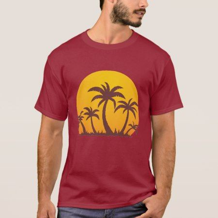 Palm Trees and Sun T-Shirt - click/tap to personalize and buy