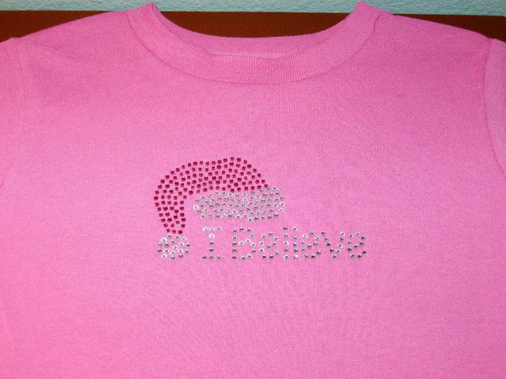 "BABY CHOOSE SIZE 6M,12M,18M PINK RHINESTONE ""I BELIEVE"" SANTA HAT T-SHIRTS NEW #TickledPinkTees #Holiday"