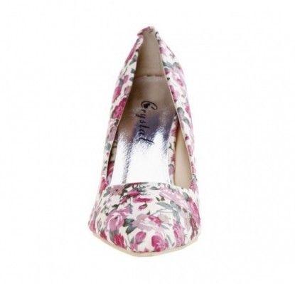 Női magassarkú cipő MATAR - bézs