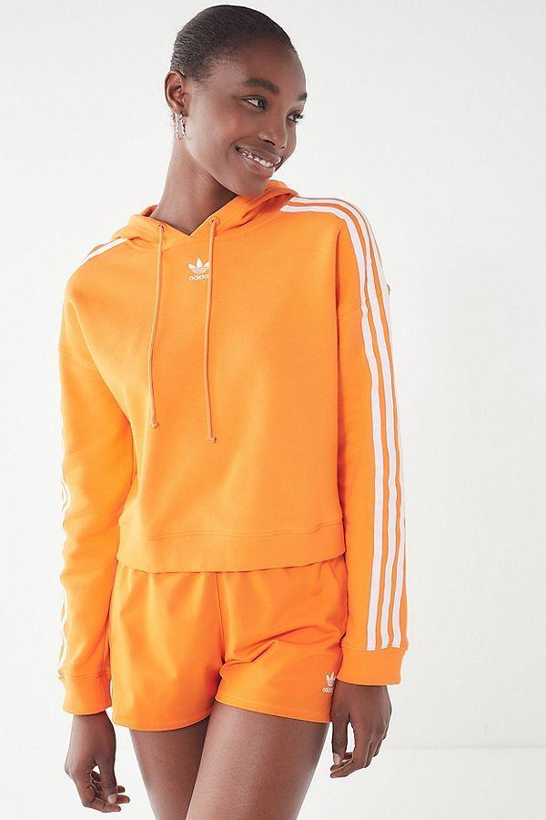 sale retailer fabaa a1278 Slide View  2  adidas Originals Adicolor 3 Stripes Cropped Hoodie Sweatshirt