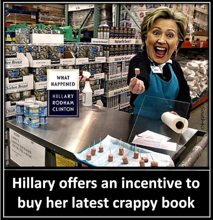 HILLARY BOOK SIGNING TOUR DISASTER - COSTCO SET HER UP BETWEEN - costco jobs