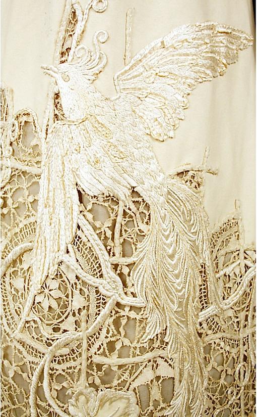 American silk dress detail 1904
