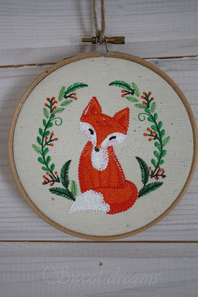 Embroidery#craft#for kids#fox