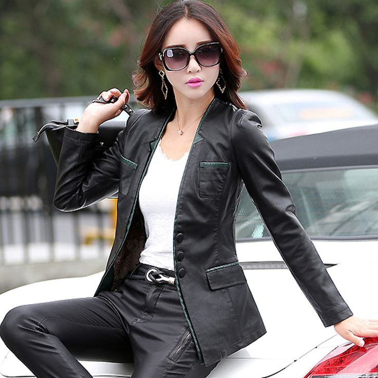 55 best Women Leather Blazers images on Pinterest
